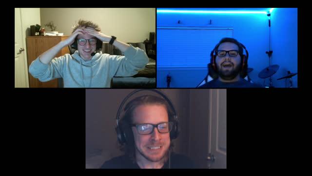three friends playing multiplayer video games get excited about win during video call - alpha channel stock videos & royalty-free footage