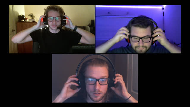 three friends put on headsets getting ready to play multiplayer video games together on a video call - alpha channel stock videos & royalty-free footage
