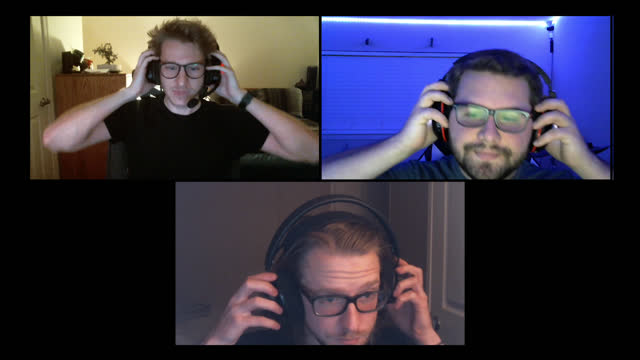 three friends remove headsets and say goodnight after playing multiplayer video games together on a video call - bedtime stock videos & royalty-free footage