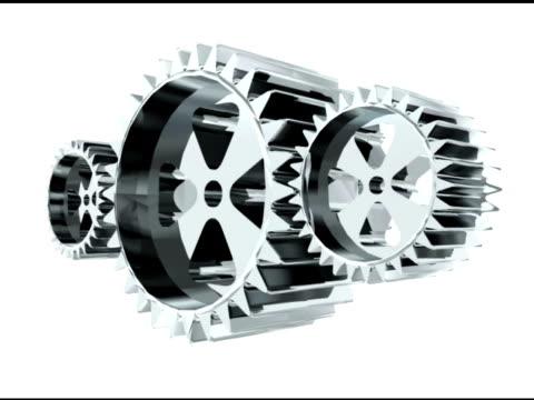 stockvideo's en b-roll-footage met three gears animated - kleine groep dingen