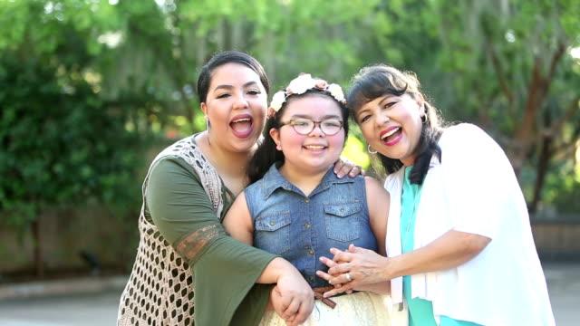 three generation hispanic family - 8 9 years stock videos & royalty-free footage