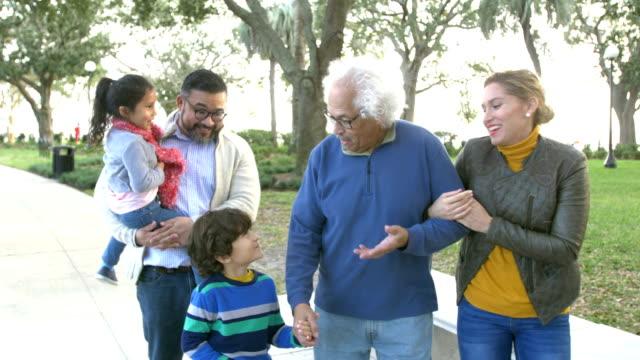vídeos y material grabado en eventos de stock de familia hispana de tres generaciones - 30 39 years