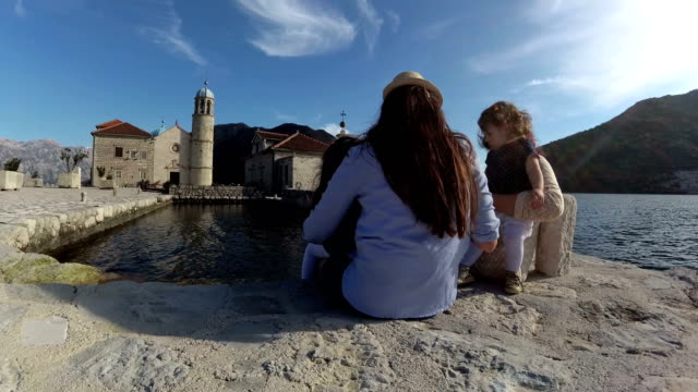 three generations of girls slow motion - perast stock videos and b-roll footage