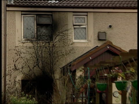 lancashire nr burnley padiham blackened window of house where girls died pull commander mike painter interview sot mother made heroic effort but she... - itv late evening bulletin stock videos and b-roll footage