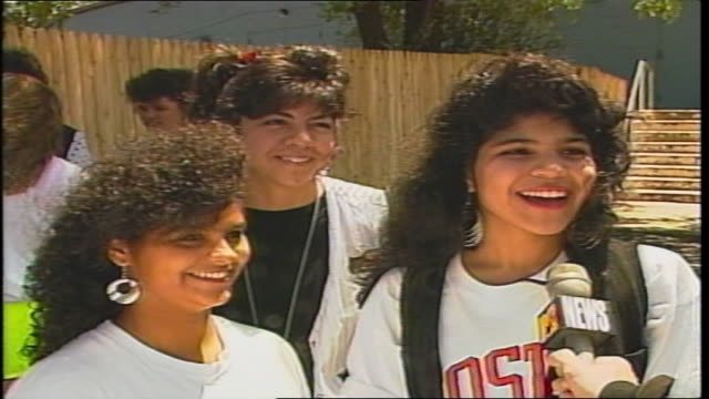 three girls interviewed about the new kids on the block in westbury, ny - boy band stock videos & royalty-free footage