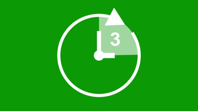 three hour, stopwatch animated icon clock with moving arrows simple animation. time counter symbol stock video - number 3 stock videos & royalty-free footage