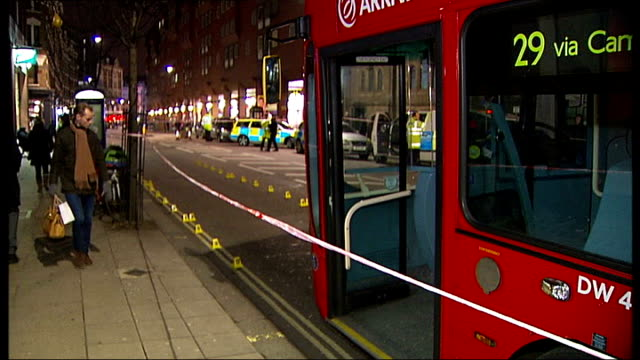 three injured in charing cross road bus accident london police officers at scene of bus accident on charing cross road close shot bus involved in... - charing cross stock videos and b-roll footage