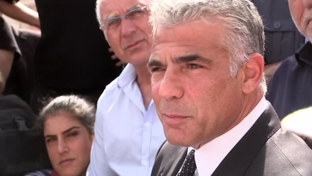 Three Israelis killed in 'Day of Rage' attacks by Palestinian groups Yair Lapid speaking to press SOT this has been happening for last few days /...