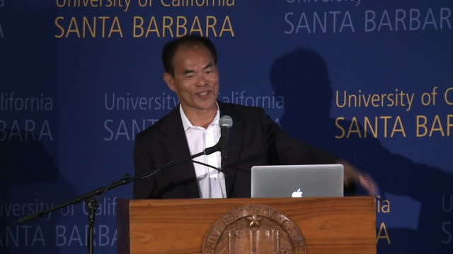three japanese researchers have been awarded together this year's nobel prize in physics for the invention ofleds shuji nakamura of the university of... - university of california bildbanksvideor och videomaterial från bakom kulisserna
