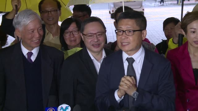 three leading hong kong democracy campaigners plead not guilty to public nuisance charges over their involvement in massive rallies calling for... - assertiveness stock videos & royalty-free footage