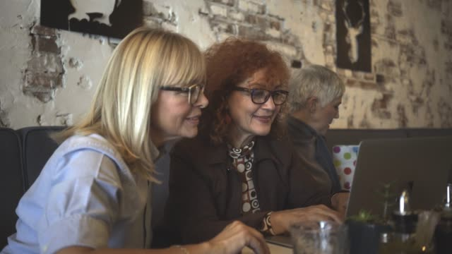 three mature women have a lunch - lunch stock videos & royalty-free footage