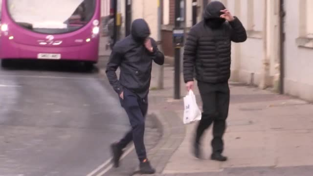 three men arrive at worcester crown court where a jury is deliberating charges of stealing a £2.95 million saxon hoard. george powell, layton davies,... - metal stock videos & royalty-free footage