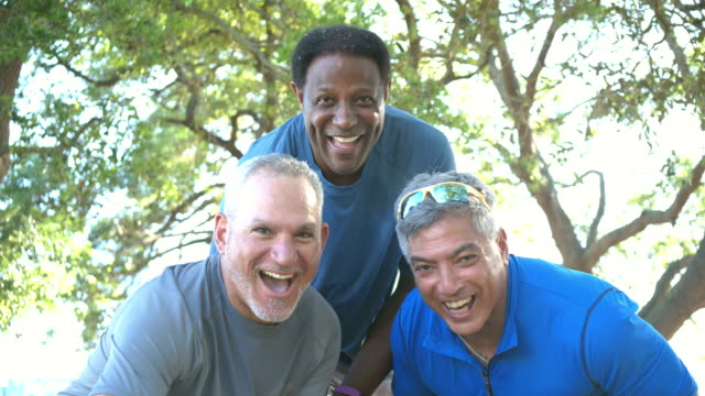 three men done exercising, run up to camera - active lifestyle stock videos & royalty-free footage