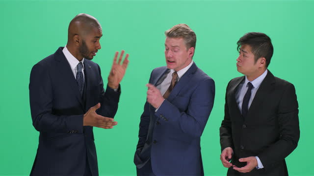 three men in suits arguing, greenscreen - full suit stock videos & royalty-free footage