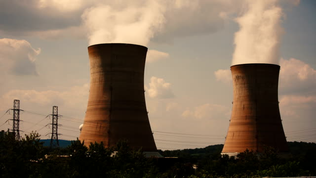 three mile island nuclear plant - nuclear reactor stock videos and b-roll footage