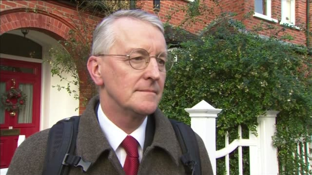three ministers resign following labour reshuffle london hilary benn mp interview sot i haven't been puzzled i'm going to be carrying on doing my job... - hilary benn stock-videos und b-roll-filmmaterial