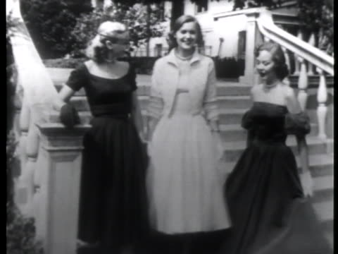 three models displaying their dresses in the brooklyn botanical-gardens at the fall fashion show. - grounds stock videos & royalty-free footage