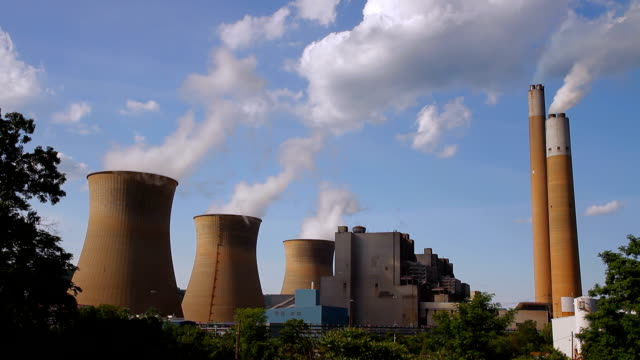 three nuclear stacks towers hd - uranium stock videos & royalty-free footage
