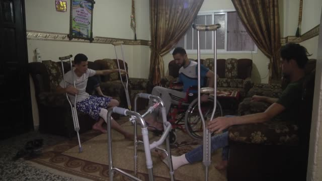 Three Palestinian brothers are now wheelchairbound after having been shot by Israeli troops during antioccupation demonstrations in the Gaza Strip...