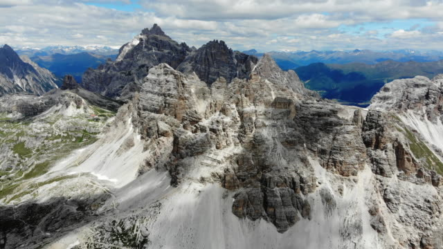 tre cime di lavaredo italian dolomites - unesco world heritage site stock videos & royalty-free footage