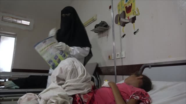 three people have died of suspected diphtheria in conflict hit yemen doctors said wednesday as the world health organisation and international... - diphtheria stock videos & royalty-free footage