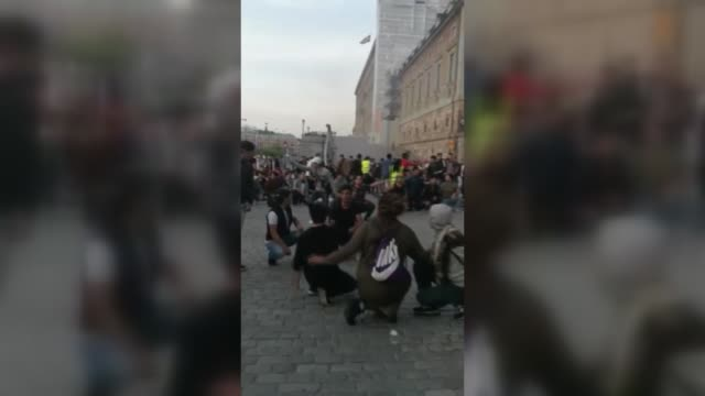 Three people were injured in Stockholm on Tuesday as extremists attacked a peaceful sitdown protest by Afghan refugees demonstrating against...