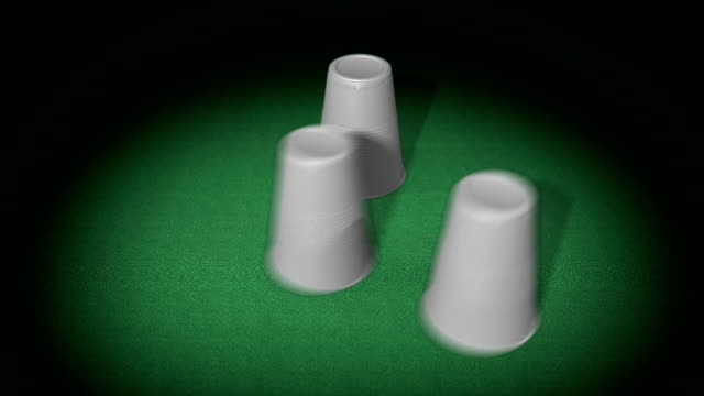 three plastic cups - criminal play - three objects stock videos & royalty-free footage