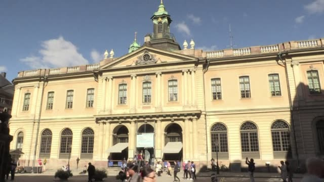 three prominent members of the swedish academy resign in protest of close ties between the institution which awards the nobel literature prize and a... - nobel prize in literature stock videos & royalty-free footage