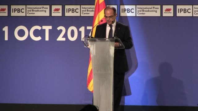 three quarters of the polling stations in catalonia remain open despite spanish police's crackdown on the independence referendum banned by madrid... - spokesman stock videos and b-roll footage