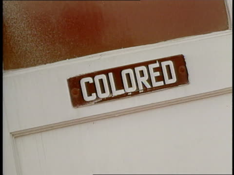 three restrooms indicate ladies mens and colored rest room - jim crow laws stock videos & royalty-free footage