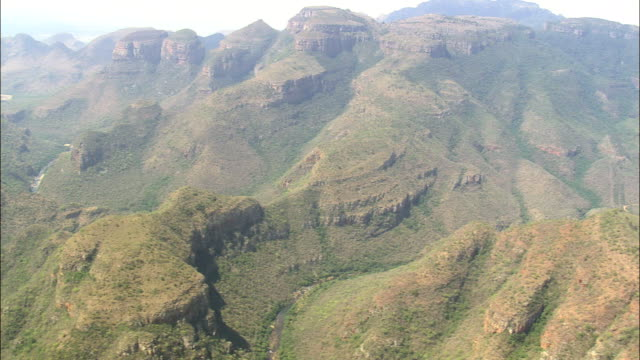 three rondavels  - aerial view - mpumalanga,  south africa - mpumalanga province stock videos and b-roll footage