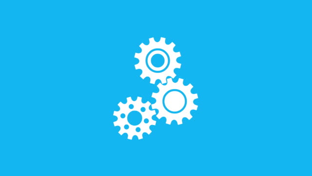 three rotating gear mechanism - spinning stock videos & royalty-free footage