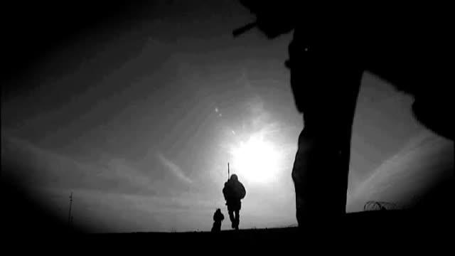 three royal marines accused of murdering afghan prisoner audio recording released graphicised sequence british troops on patrol in afghanistan... - 被告人点の映像素材/bロール