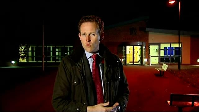 three royal marines accused of murdering afghan prisoner audio recording released england wiltshire bulford ext / night reporter to camera - 被告人点の映像素材/bロール