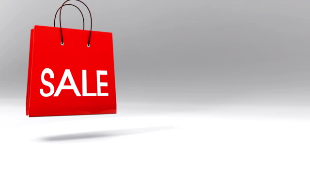 three sale bags - discount and shopping - three objects stock videos & royalty-free footage