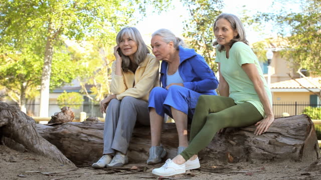ws three senior women looking at smartphone / los angeles, california, usa - 60 64 jahre stock-videos und b-roll-filmmaterial
