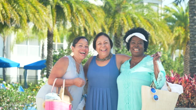 three senior women on vacation together - cruise collection stock videos & royalty-free footage