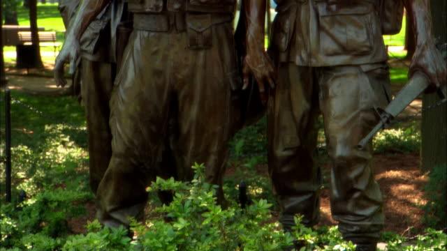 Three Servicemen statue, part of the Vietnam Veterans Memorial, Washington DC, USA