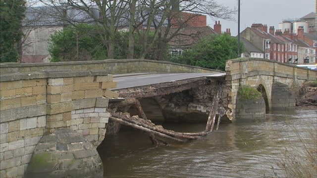 Three severe weather warnings in place are along the River Yarrow in the Lancashire village of Croston A gap has opened up in the nearby flood...