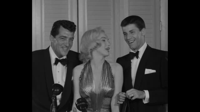 dean martin and jerry lewis with marilyn monroe, she says something inaudible, martin laughs, sot ñwe have an old candy store and aƒî - comedian stock videos & royalty-free footage