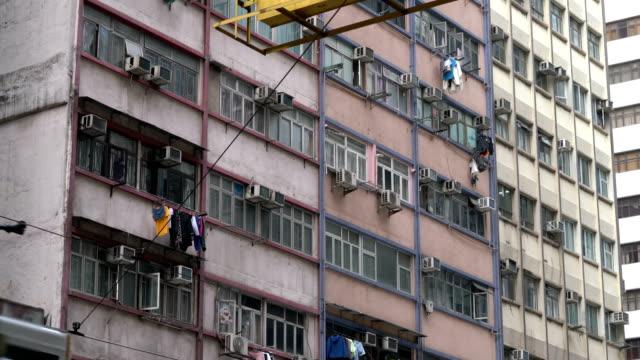 three shots of hong kong apartment - abundance stock videos & royalty-free footage