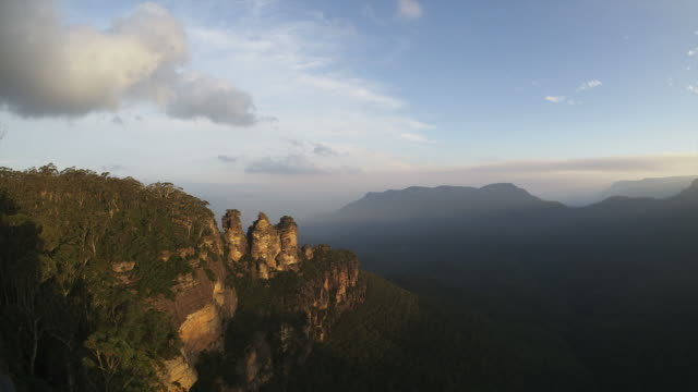 Drei Sisiters HD-Zeitraffer. Die Blue Mountains. Sydney