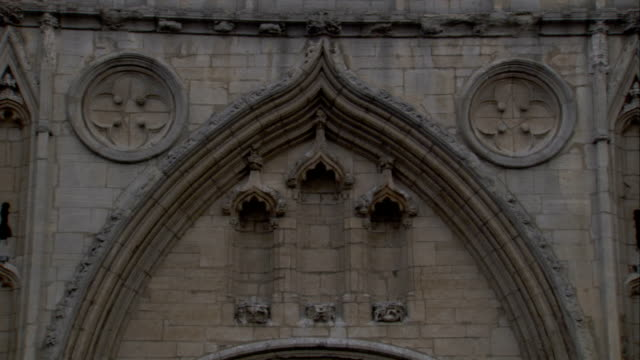 three smaller decorative arches on the facade of the abbey gate, bury st edmunds. available in hd. - bury st edmunds stock videos & royalty-free footage