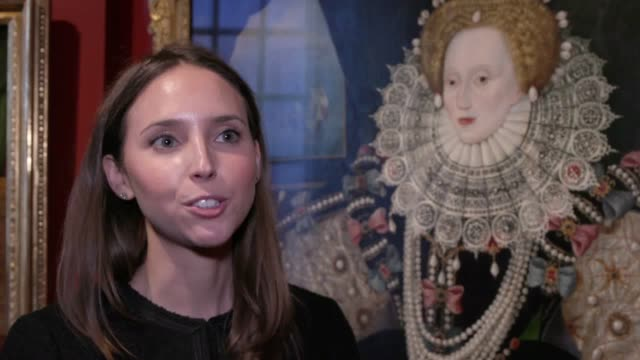 three surviving paintings of one of the most famous portraits of queen elizabeth i are to go on public display for the first time in their 430 year... - britisches königshaus stock-videos und b-roll-filmmaterial
