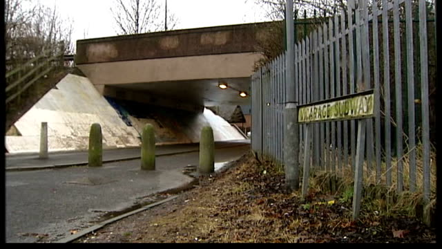 three teenagers convicted of the murder of garry newlove ext street sign 'vicarage subway' near bridge and underpass - underpass stock videos and b-roll footage