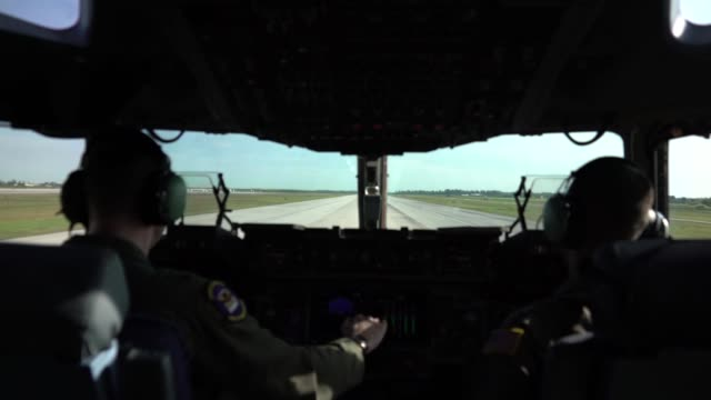 three us air force c17 globemaster iii's deliver humanitarian aid from homestead air reserve base fl to cucuta colombia february 16 2019 the mission... - miami dade county stock videos and b-roll footage