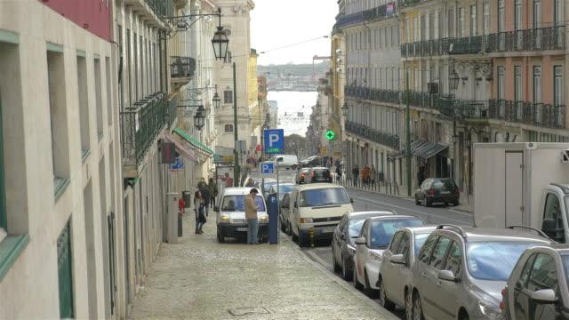 Three videos of street in Lisbon in 4K