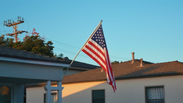 Three videos of USA flag in 4K