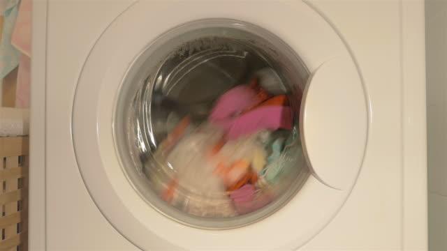 Three videos of washing machine in 4K