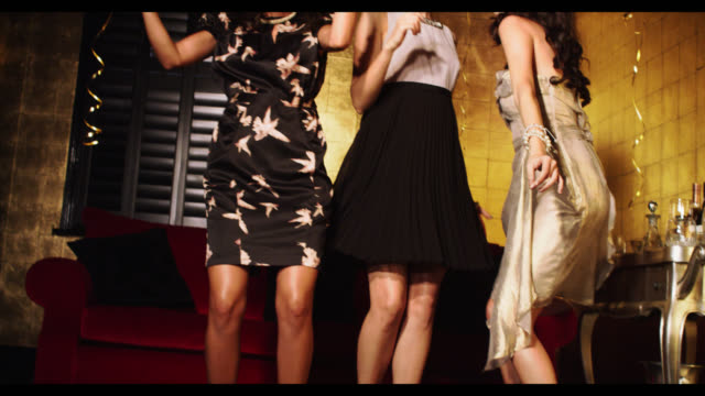 three women dancing - brown stock videos & royalty-free footage